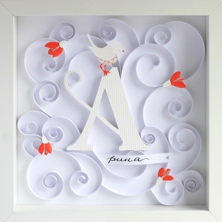 Arina - lettering, gift, paper, papercut - talamaskanka | ello