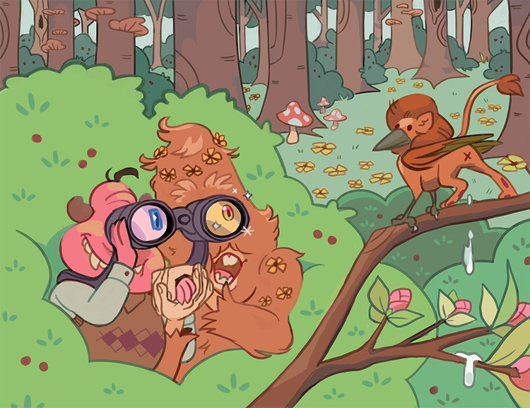 Cyclops Bigfoot - Birdwatching  - iffykins | ello