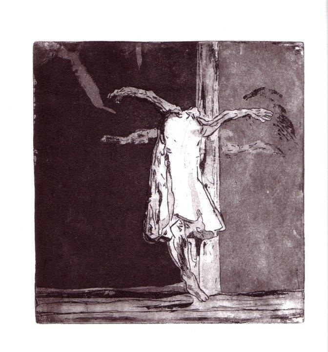 Etching - printmaking, Dancer - ilanagraf | ello