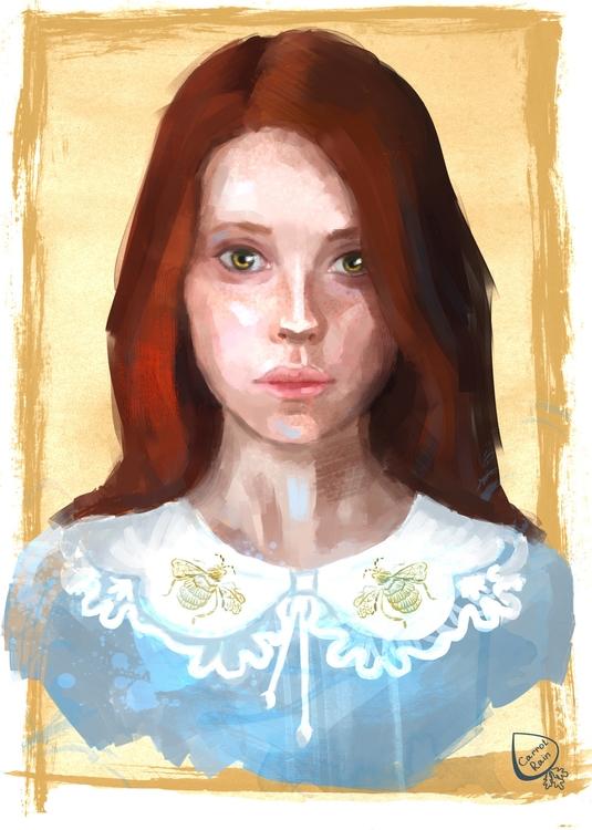 portrait, girl, red - carrotrain | ello
