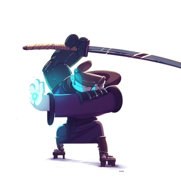 samurai, characterdesign, robot - dorshamir | ello