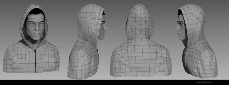 Rami Malek Robot - portrait, 3d - brenrodri | ello