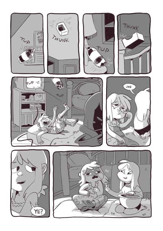 Sleepover! 3/4 - comics, autobio - iffykins | ello