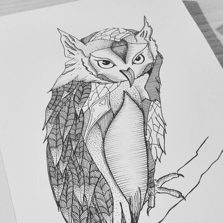 'Lily' Sketchbook drawing - owl - yana_c | ello