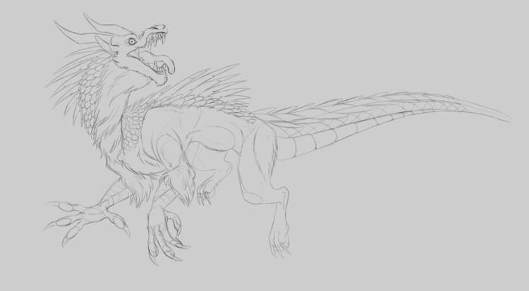 likes WIPs - creaturedesign, dragon - madmeeper | ello