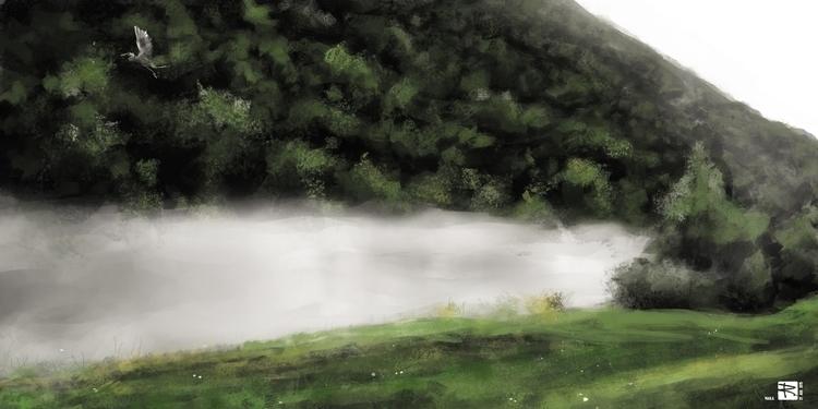 Fog - painting, drawing, environment - raschomon   ello
