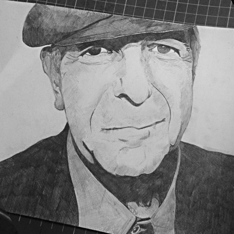 Leonard Cohen - pencildrawing, art - seanfinlay_ | ello