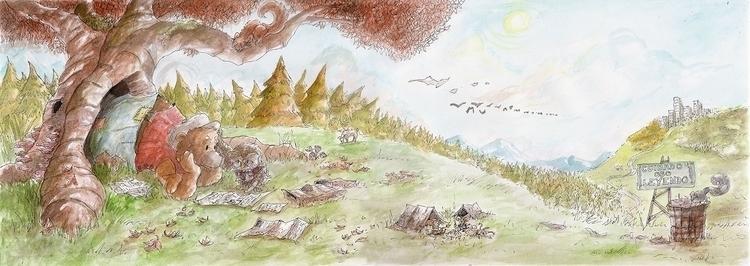 illustration, painting, conceptart - nahuelullua | ello