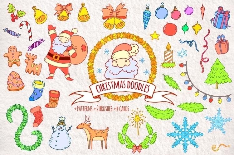 Christmas Doodles - christmas, doodle - pushkina | ello