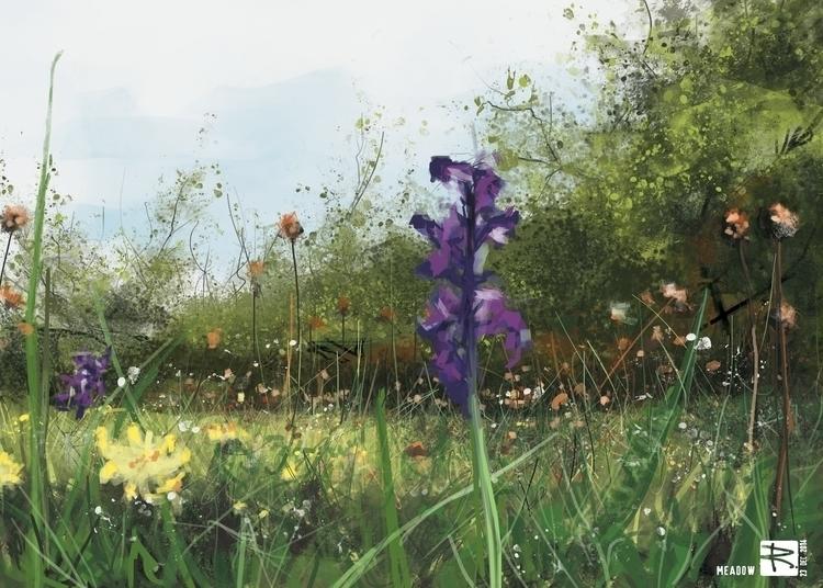 Meadow - illustration, environment - raschomon | ello