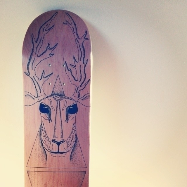 'Deer Skatedeck - animal, deer, skateboard - yana_c | ello