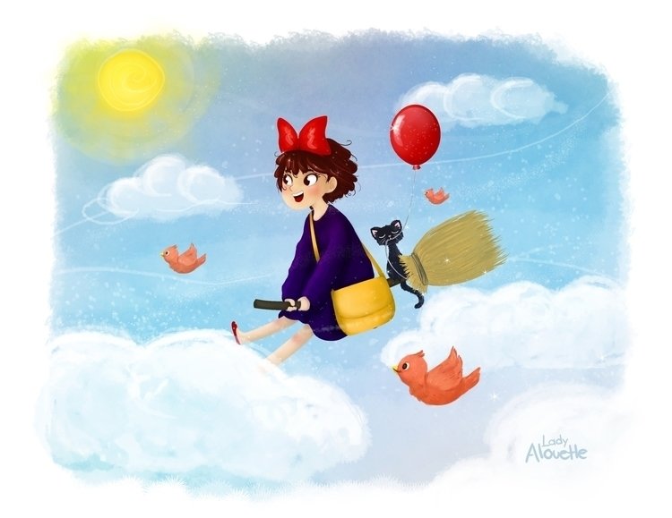 delivery service, drawing 2013 - ladyalouette | ello