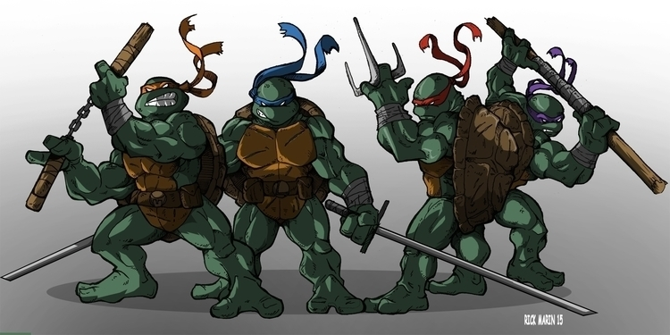 Teenage Mutant Ninja Turtles - illustration - rickmarin | ello