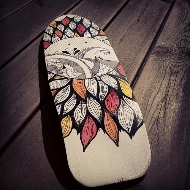 'Waves love' Skatedeck - skateboard - yana_c | ello