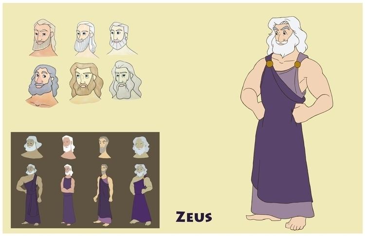 Zeus design sheet - greekmythology - gallagirl   ello