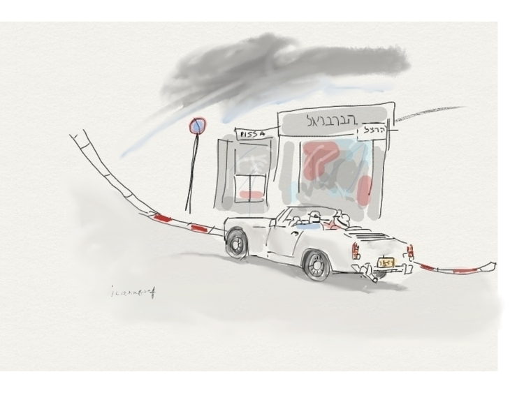 American car Tel-Aviv - Car, illustration - ilanagraf | ello