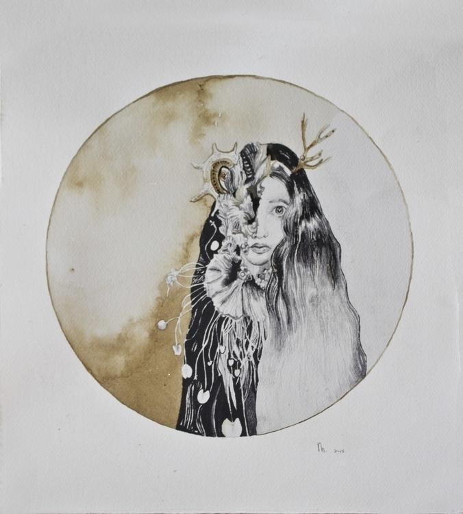Amphitrite: Queen sea - drawing - minienhattingh   ello