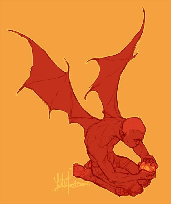 Sadder Bargained | OC - demon, character - kikiface | ello