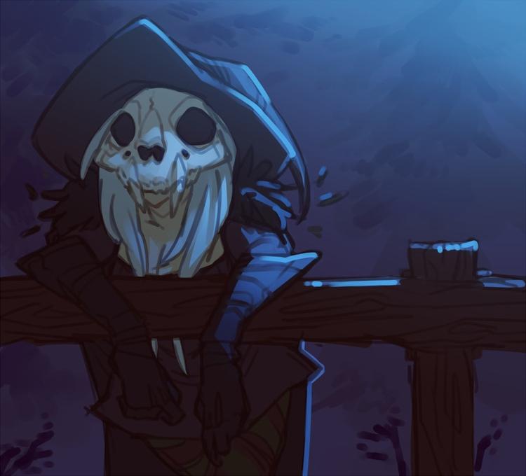Witchsona - witch, skull, bones - kikiface | ello