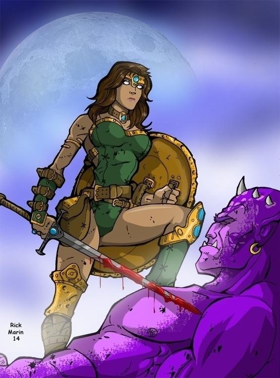 Blind Huntress - illustration, animation - rickmarin | ello