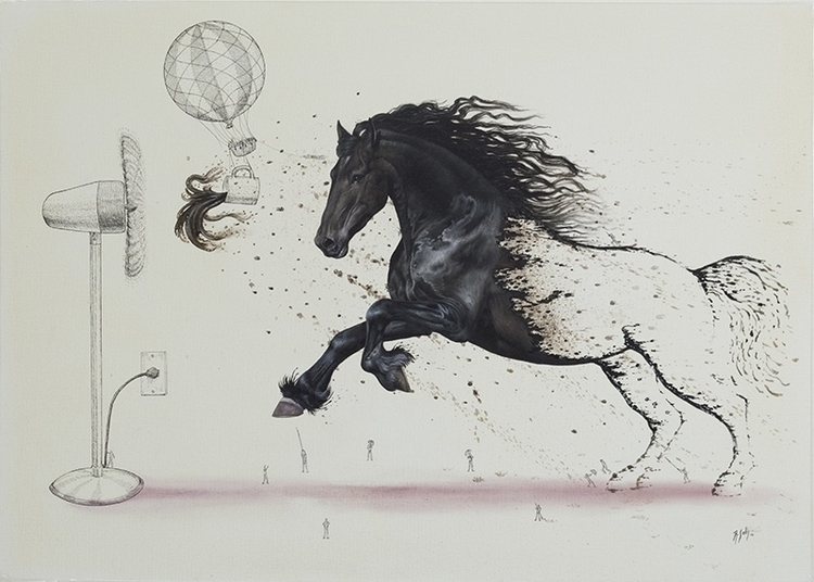 wind - horse, black, coffee - solisart | ello