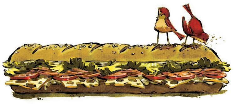 Sandwich - foodillustration, food - jessicawarrick   ello