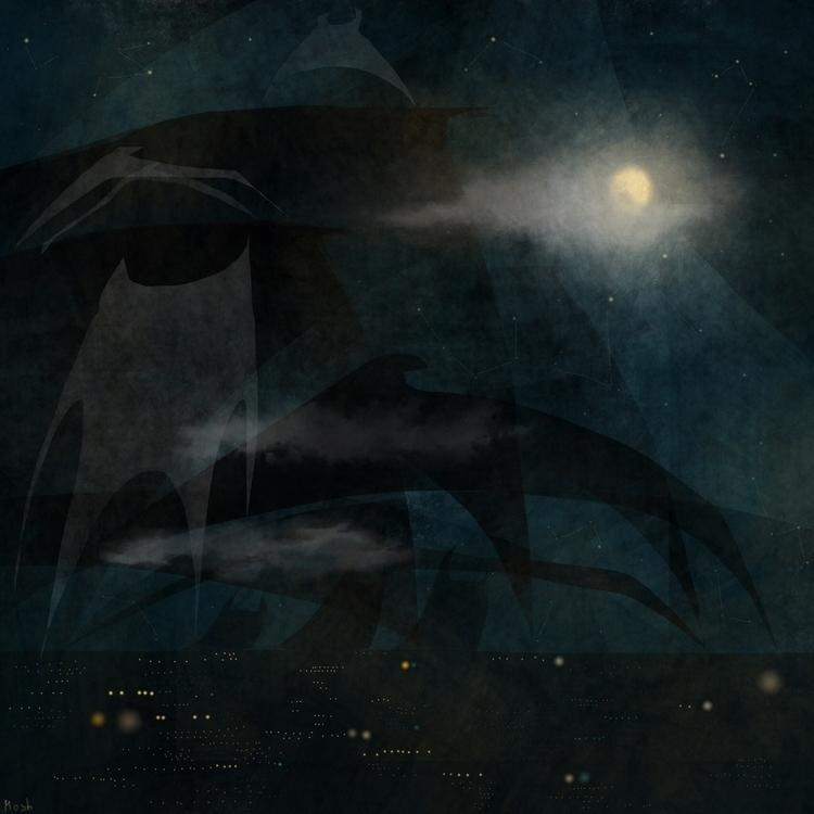 night ghost - illustration, characterdesign - mashaghajanyan   ello