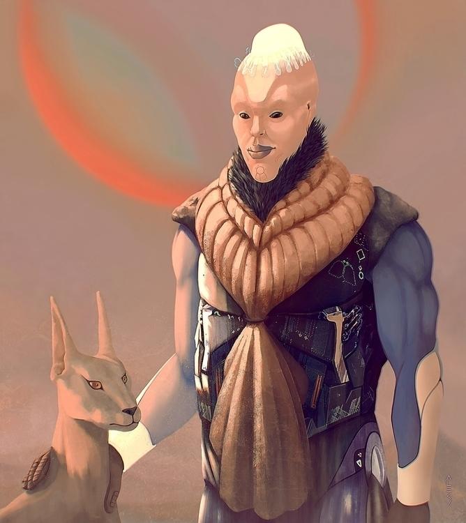 General Panyan - illustration, sci-fi - alecs-1191 | ello