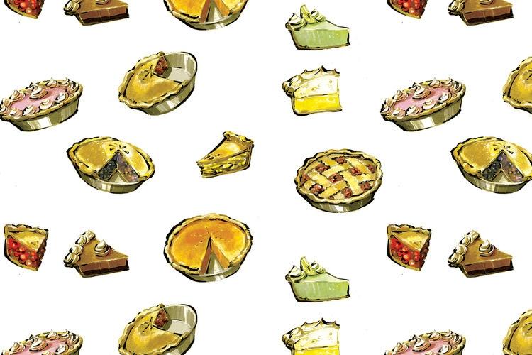 Pie - pie, dessert, food, foodillustration - jessicawarrick | ello