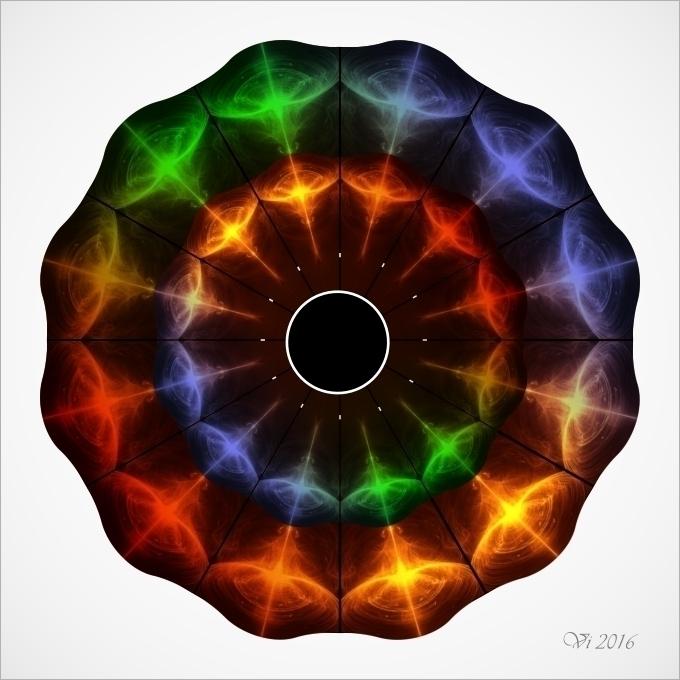 Rainbow Space - illustration, opart - igor01 | ello