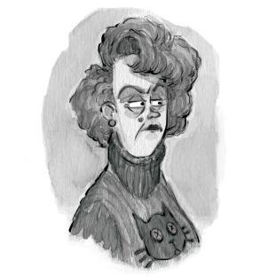 Shifty-eyed lady - illustration - jessicawarrick | ello