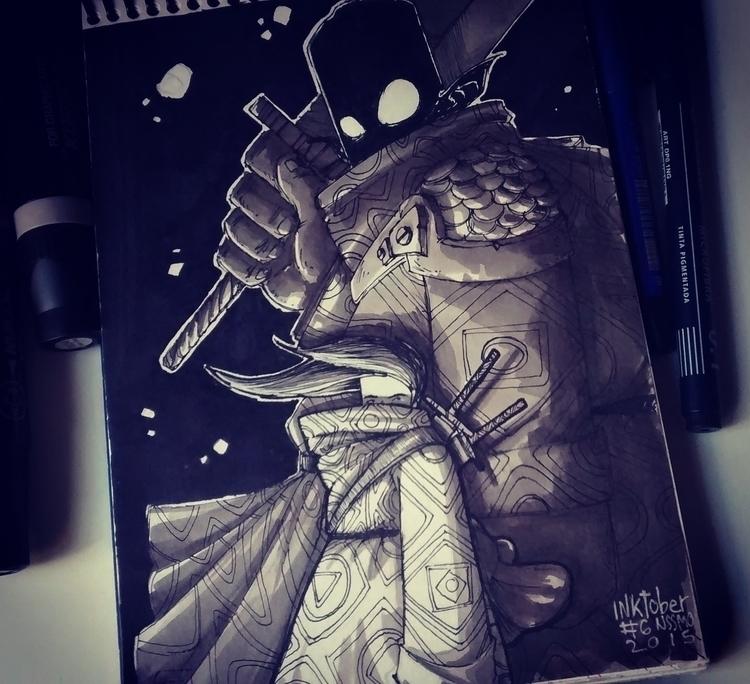 inktober06 - ink, illustration, inktober - nachissimo | ello