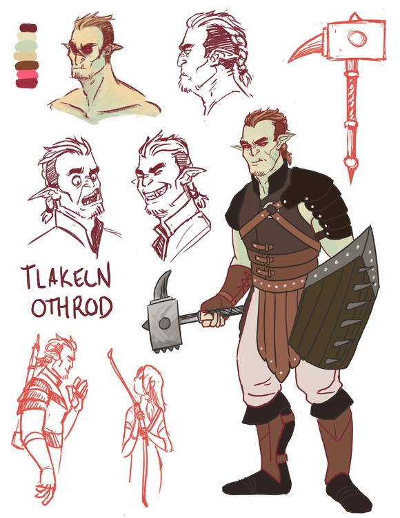 Tlakeln fighter attached guy - characterdesign - mernolan | ello