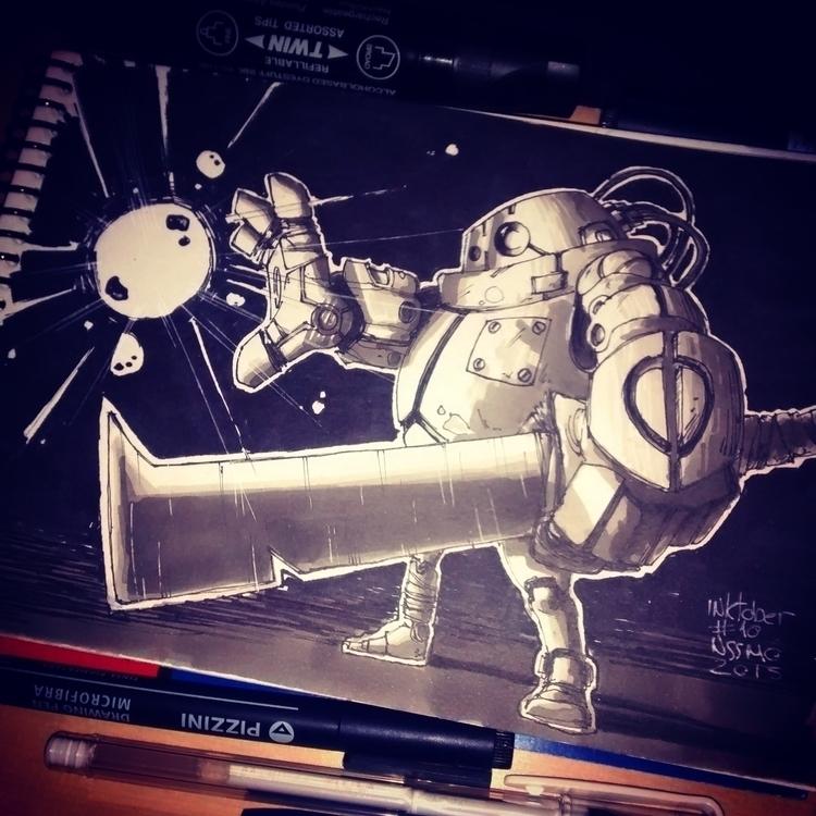 inktober10 - illustration, ink, inktober - nachissimo | ello