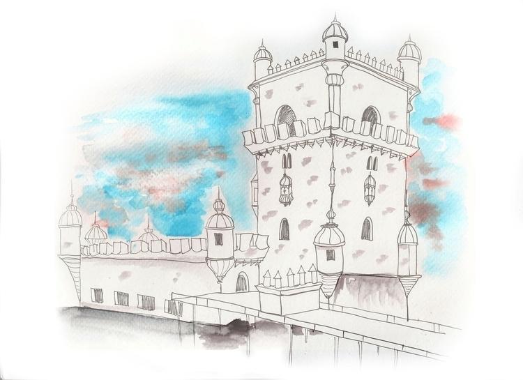 Belém Tower item/2017 - illustration - gabrielamolinaro | ello