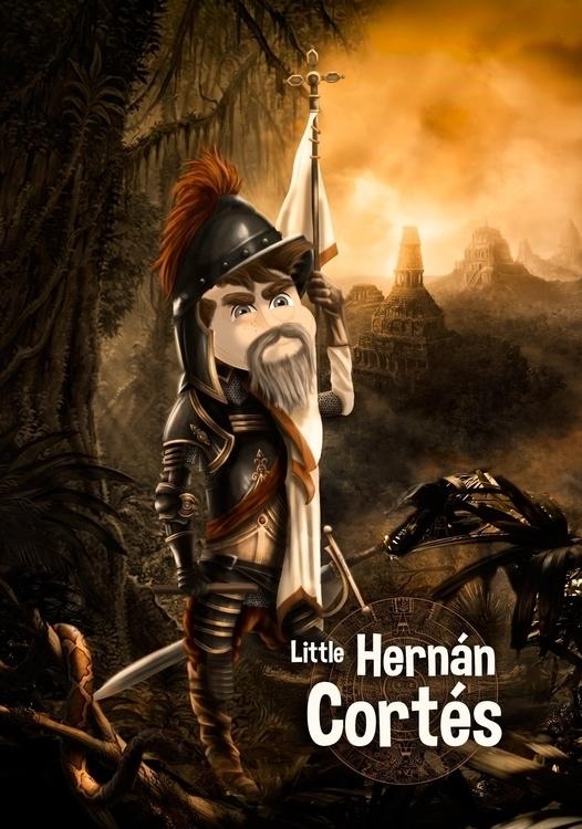 Hernán Cortés - illustration, characterdesign - kukovic12   ello