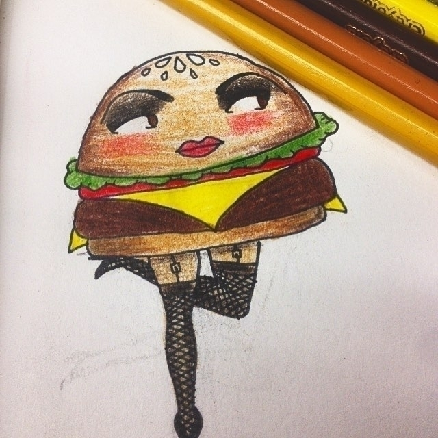 Betty Burger - Pin girl - illustration - brieana | ello
