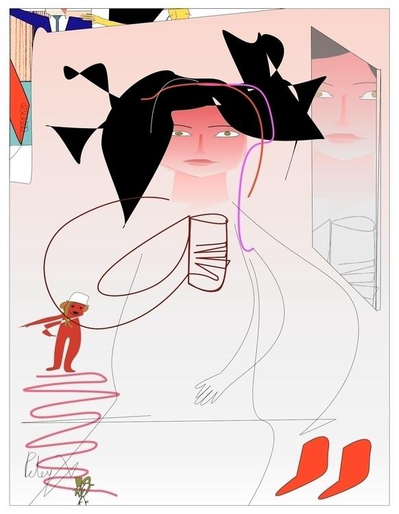 Selena Hair Dresser - illustration - danielspeterv   ello