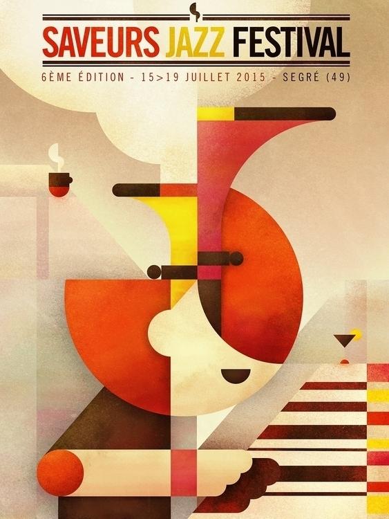 Saveurs jazz festival 2015 - poster - squizzato | ello
