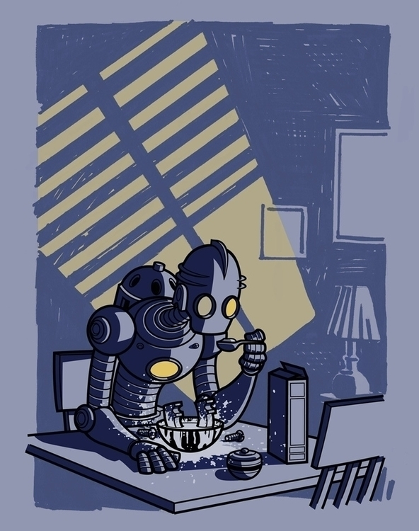Sad Robot - robot, sad, poster - tommcweeney | ello