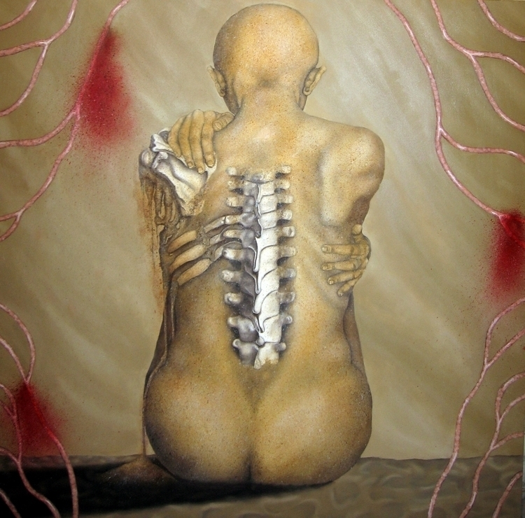 Bare Bones 4 feet Oil painting - cathygermay | ello
