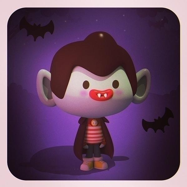 vampi - halloween, 3d, 3dart, illustration - cecymeade   ello