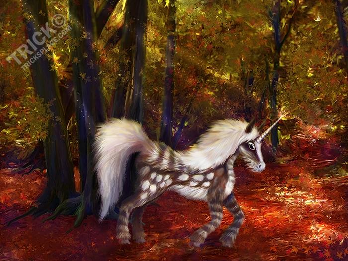 Autumn Spotted Unicorn - unicorn - trick-6303   ello
