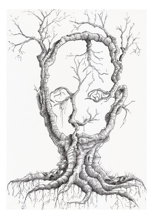 illustration, drawing, micronpen - nahuelullua | ello