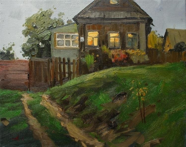 painting, landscape, autumn, volgariver - aleksei-4241 | ello