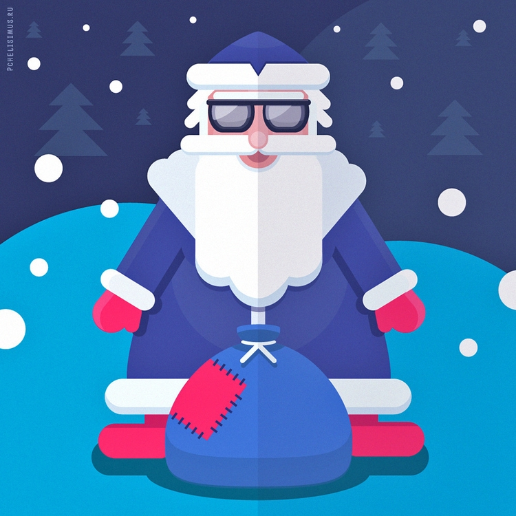 illustration, flat, winter, newyear - pchelisimus | ello
