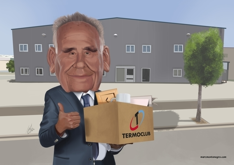 retirement caricature - marcmontenegro | ello
