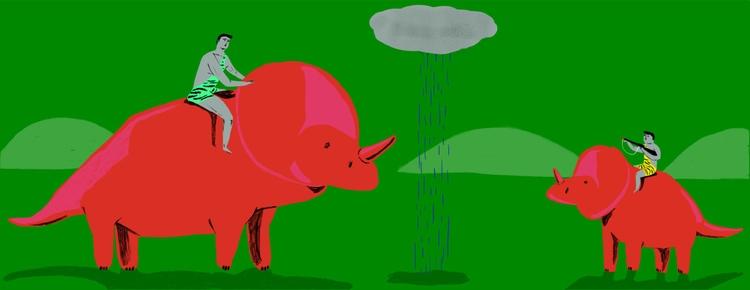 dinosaur, parents, illustration - zsannakreif | ello