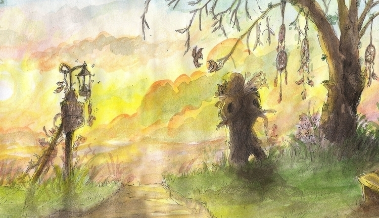 illustration, painting, drawing - nahuelullua   ello
