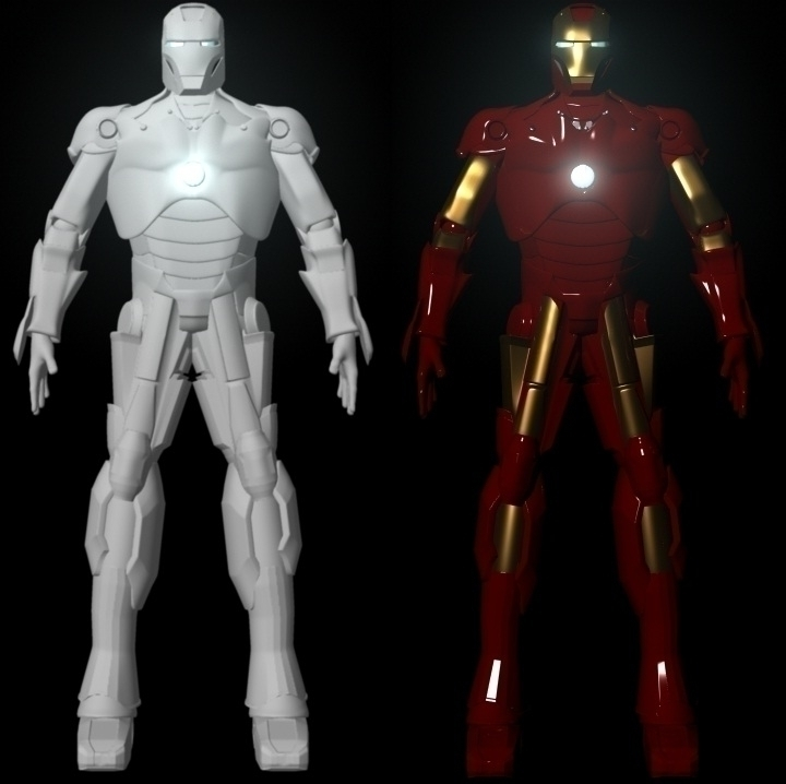 Iron Man (Chromic White Ferrari - francisbustinera | ello